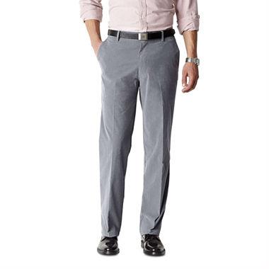 Dockers Mens Signature Slim Flat-Front Pants (Simmons Plaid Pemb or Olsen Navy Stripe)