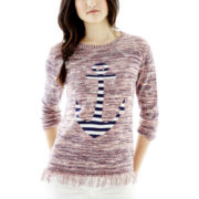Joe Fresh™ 3/4-Sleeve Anchor Sweater