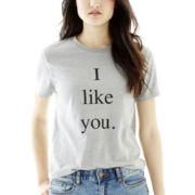 Joe Fresh™ Short-Sleeve I Like You Graphic Tee