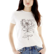 Joe Fresh™ Short-Sleeve Floral Sketch Tee