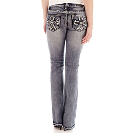 ZCO Embellished-Pocket Bootcut Jeans