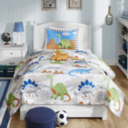 Mi Zone Kids Sharp Tooth Dinosaur Quilt Set