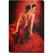 Red Dancer Canvas Wall Art