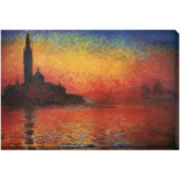 Dusk in Venice Canvas Wall Art