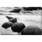 Boulders on the Beach Canvas Wall Art
