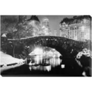 Winter in Central Park Canvas Wall Art