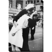Kissing the War Goodbye Canvas Wall Art