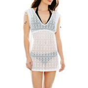 Arizona Crochet Lace Empire-Waist Cover-Up - Juniors
