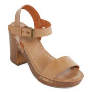 Mia Girl® Manuela Faux-Wood Heel Sandals