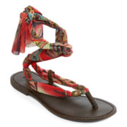 Mia Girl® Drina Scarf Wrap Sandals