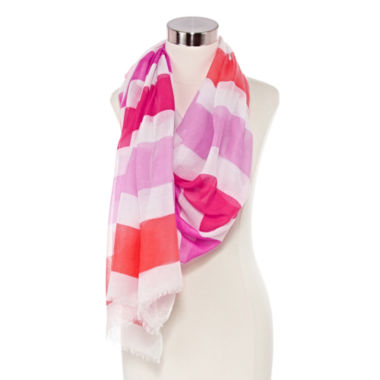 jcpenney.com | Studio 36 Striped Oblong Scarf