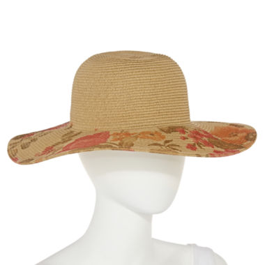 jcpenney.com | Studio 36 Printed Floral Floppy Hat