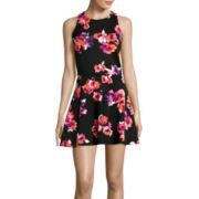 Decree® Scuba Bodycon Tank Top and Skater Skirt