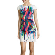 Isabelle & Nina Cap-Sleeve Print Sheath Dress