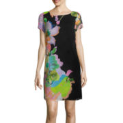 Isabelle & Nina Short-Sleeve Print Shift Dress
