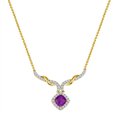jcpenney.com | Genuine Amethyst and Lab-Created White Sapphire Necklace