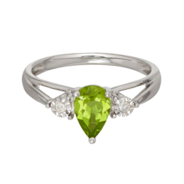 jcpenney.com | Genuine Peridot and Diamond-Accent 10K White Gold Ring