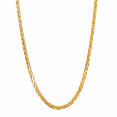 "jcpenney.com | 14K Yellow Gold Diamond-Cut Wheat Chain 16"" Necklace"