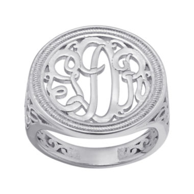 jcpenney.com | Personalized Monogram Circle Ring