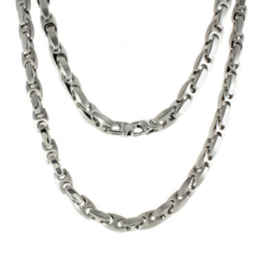 "jcpenney.com | Mens Stainless Steel Puff Mariner 24"" Necklace"