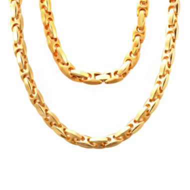 "jcpenney.com | Stainless Steel 24"" Puff Mariner Link Chain Necklace"