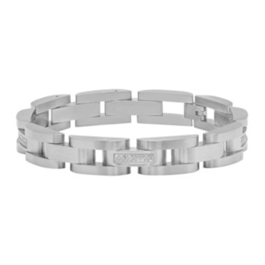 jcpenney.com | Mens 1/3 CT. T.W. Diamond Stainless Steel Bracelet