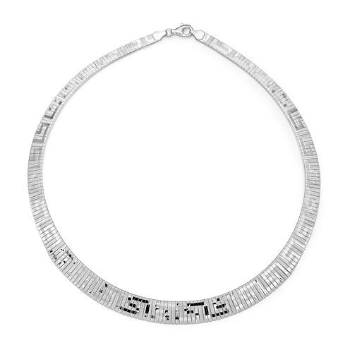Made in Italy Sterling Silver Greek Key Cleopatra Necklace