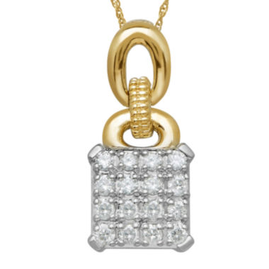 jcpenney.com | 1/4 CT. T.W. Diamond Sterling Silver with 14K Yellow Gold Accent Pendant