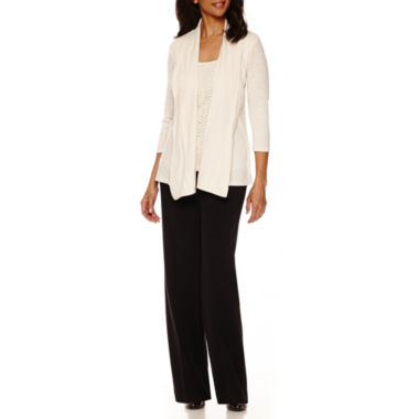jcpenney.com | Sag Harbor® Animal Instinct 3/4-Sleeve Layered Top or Straight-Leg Pants