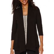 Sag Harbor® Animal Instinct 3/4-Sleeve Layered Top