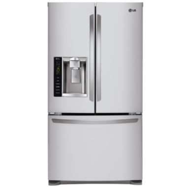 jcpenney.com | LG 24.1 cu. ft. Ultra Large Capacity 3-Door FrenchDoor Refrigerator with SpacePlus® Ice System