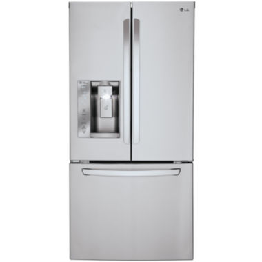 "jcpenney.com | LG ENERGY STAR® 24.2 cu. ft. 33"" Wide French Door Refrigerator with Ice and Water Dispenser"