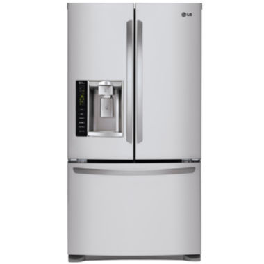 jcpenney.com | LG 24.1 cu. ft. Ultra Large Capacity 3-Door French Door Refrigerator with Dual Ice Makers