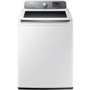 jcpenney.com | Samsung ENERGY STAR®  4.8 cu. ft. High EfficiencyTop-Load Washer with AquaJet®
