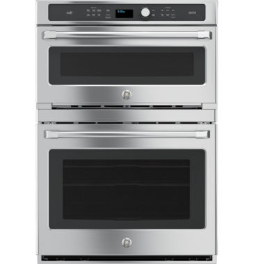 "jcpenney.com | GE Cafe™ Series 30"" Combination Double Wall Oven with Convection and Advantium® Technology"