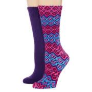 Mixit™ 2-pk. Crew Socks