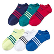 adidas® 6-pk. Superlite™ No-Show Socks