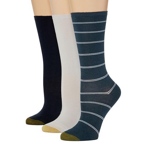 Gold Toe®3-pk. Non-Binding Crew Socks