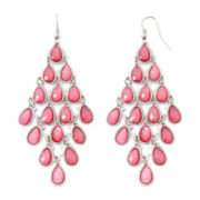 Mixit™ Silver-Tone Pink Kite Earrings