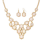 Mixit™ Shell Gold-Tone Necklace and Earring Set