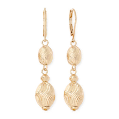 jcpenney.com | Monet® Gold-Tone Linear Earrings