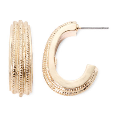 jcpenney.com | Monet® Gold-Tone Hoop Earrings
