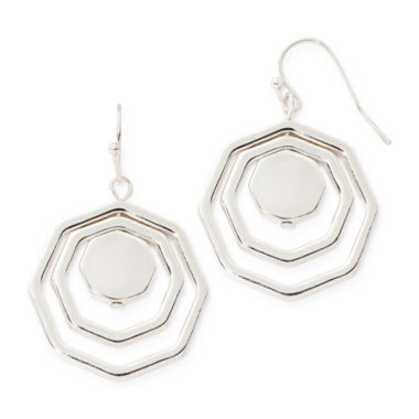 jcpenney.com | Liz Claiborne® Silver-Tone Orbital Earrings