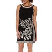 Studio 1® Sleeveless Print Sheath Dress - Petite