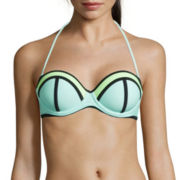 Arizona® Colorblock Pushup Bandeau Swim Top - Juniors