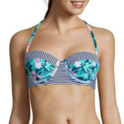 Arizona Ultramarina Underwire Bandeau Midkini Swim Top - Juniors