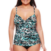 Trimshaper® Reflections Tankini Swim Top - Plus