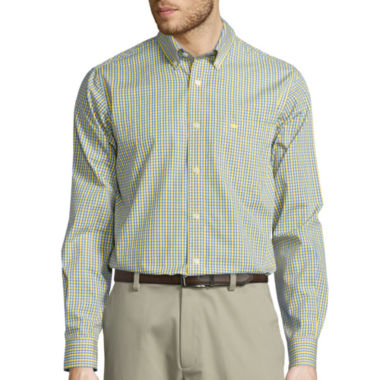 jcpenney.com | Dockers® Signature Long-Sleeve Mini-Check Woven Shirt