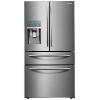 jcpenney.com | Samsung ENERGY STAR® 28 cu. ft. 4-Door French Door Refrigerator with Food Showcase Design
