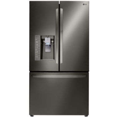 jcpenney.com | LG ENERGY STAR® 29.6 cu. ft. Super Capacity 3-Door French Door Refrigerator with Door-in-Door Design - Black Stainless